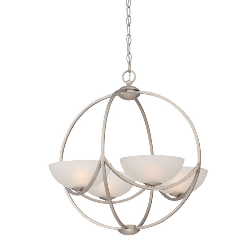 Carlucci Collection, 4-Light Linear Silver Chandelier