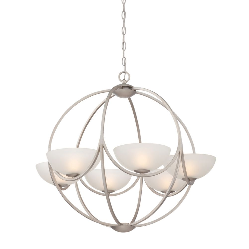 Carlucci Collection, 6-Light Linear Silver Chandelier