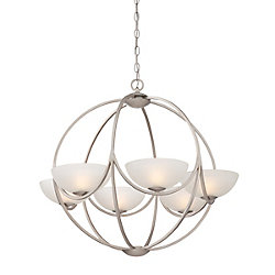 Eurofase Carlucci Collection, 6-Light Linear Silver Chandelier