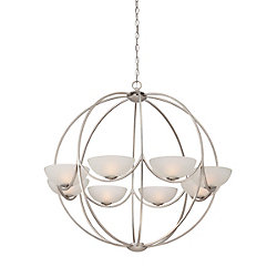 Carlucci Collection, 8-Light Linear Silver Chandelier