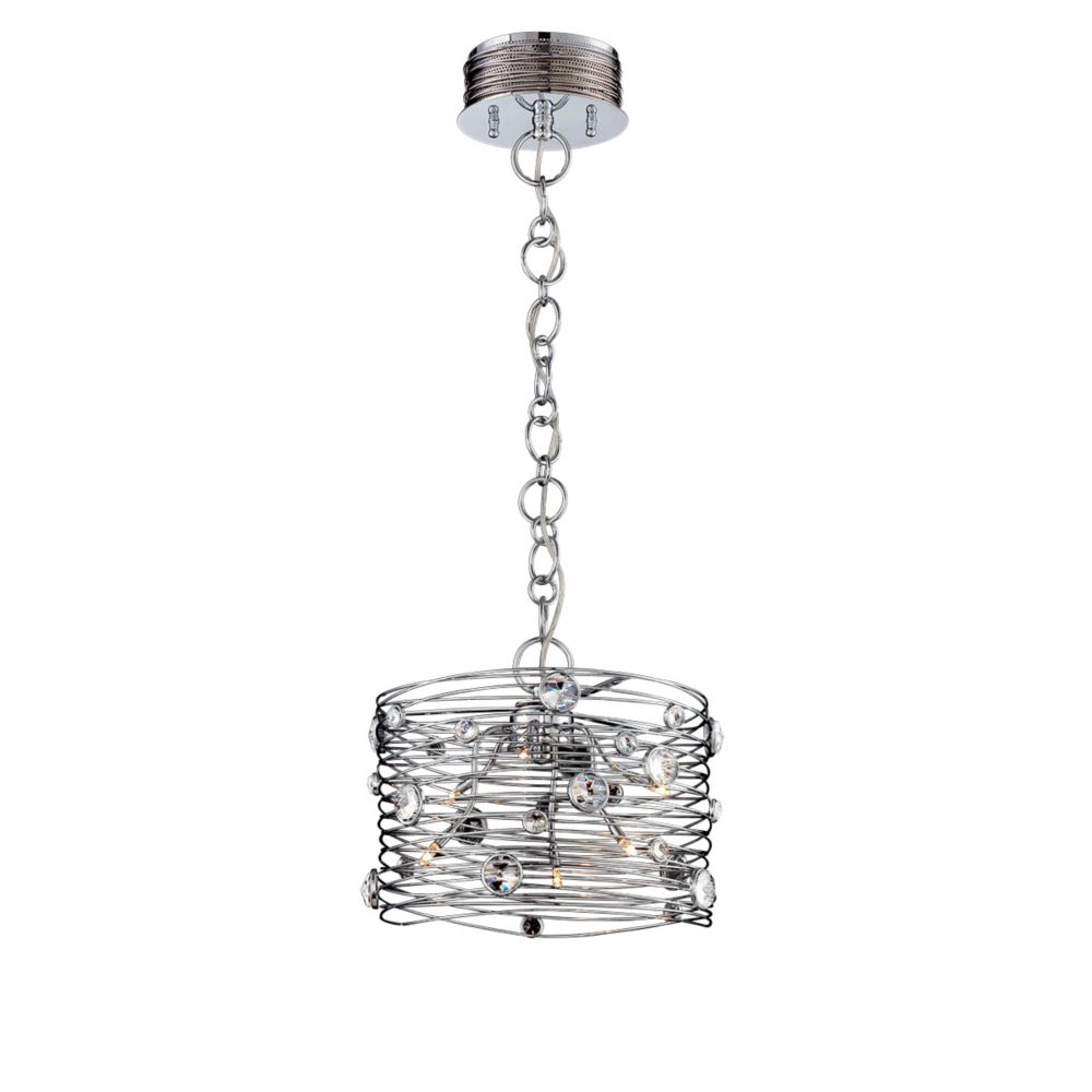 Eurofase Corfo Collection, 6-Light Chrome and Clear Chandelier