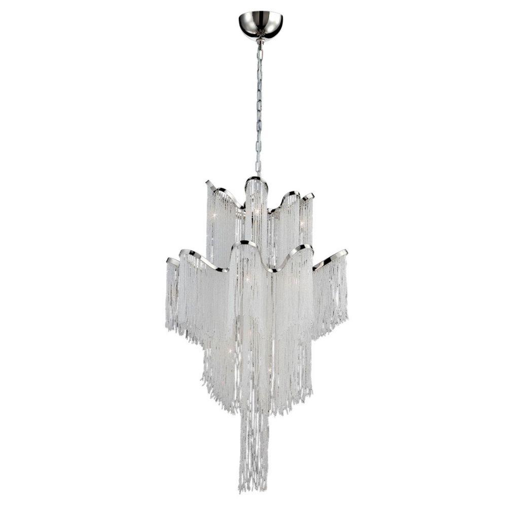Ellena Collection, 12-Light Nickel Chandelier