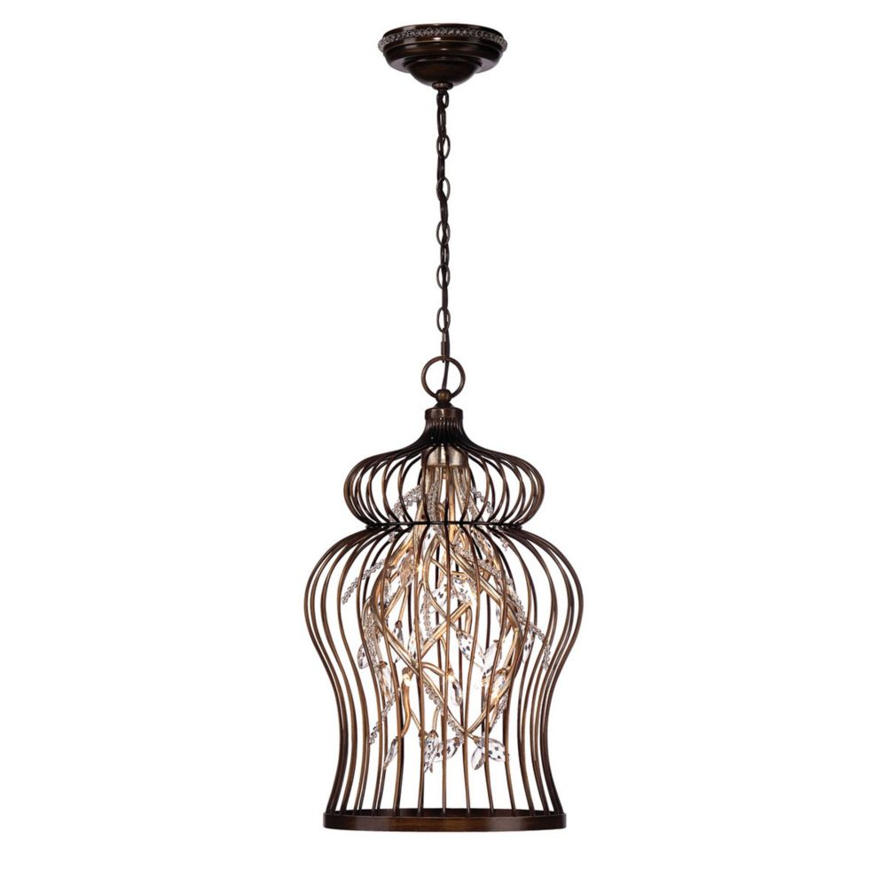 Fanta Collection, 10-Light Oil Rubbed Bronze and Clear Chandelier