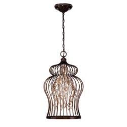 Eurofase Fanta Collection, 10-Light Oil Rubbed Bronze and Clear Chandelier