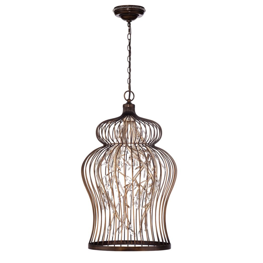 Fanta Collection, 14-Light Oil Rubbed Bronze and Clear Chandelier