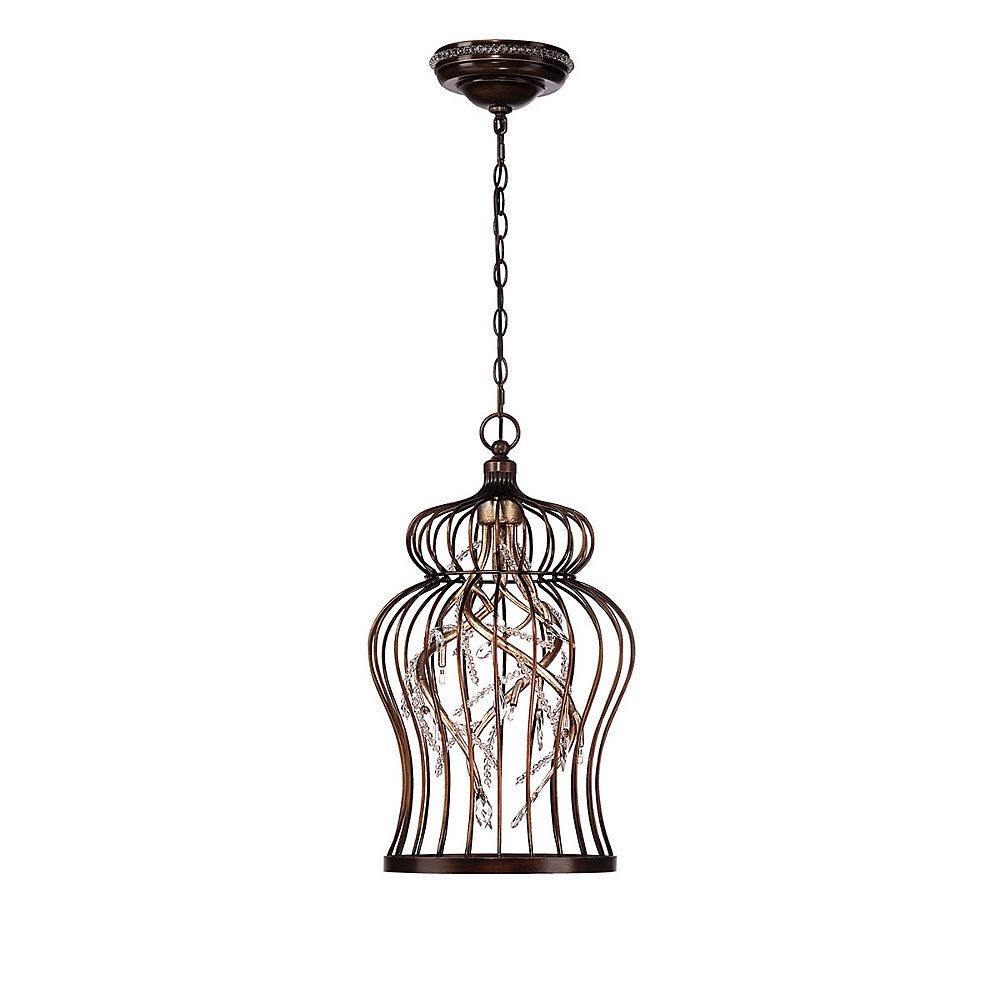 Fanta Collection, 6-Light Oil Rubbed Bronze and Clear Chandelier