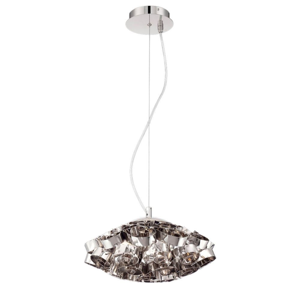 Grace Collection, 3-Light Nickel Chandelier