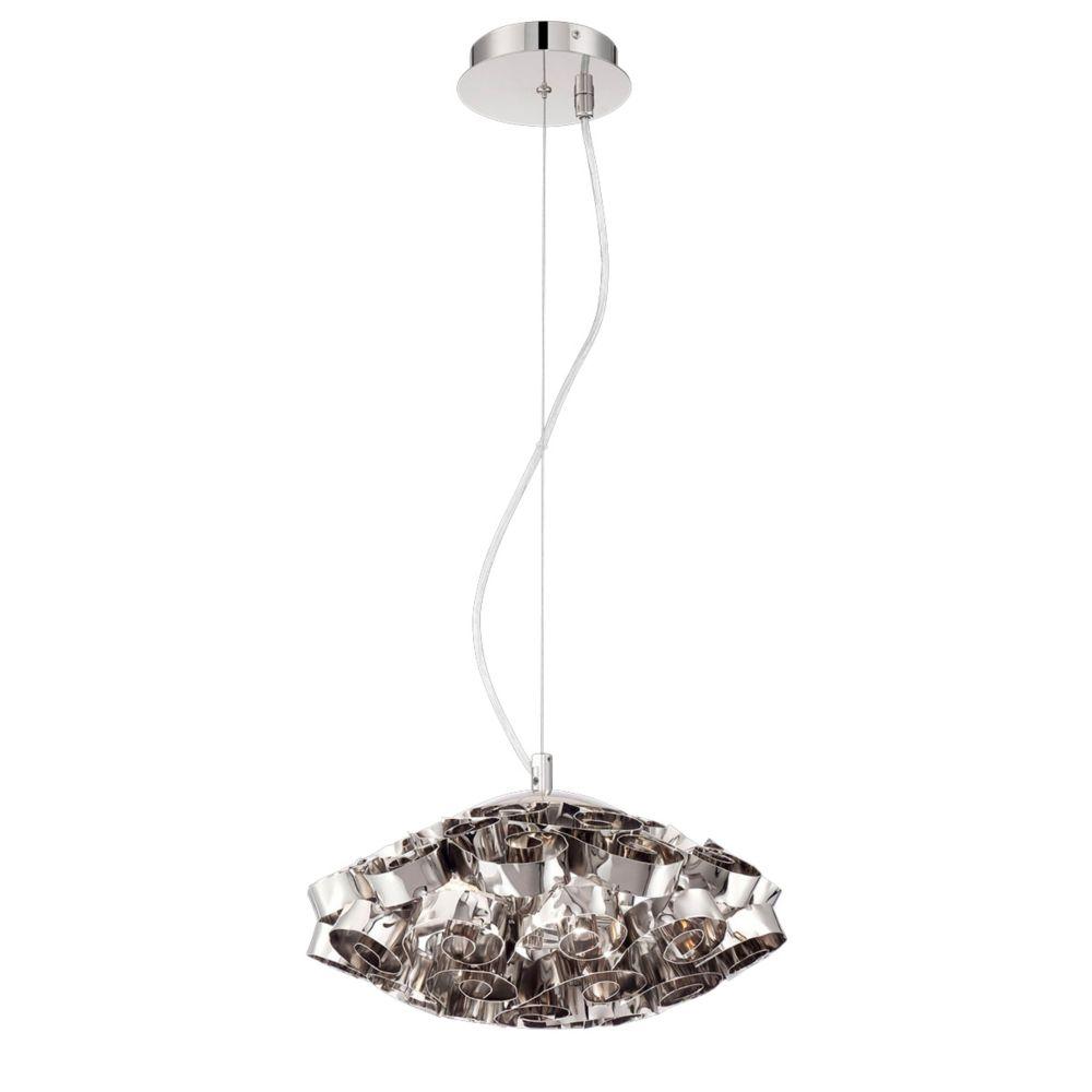 Eurofase Grace Collection, 3-Light Nickel Chandelier