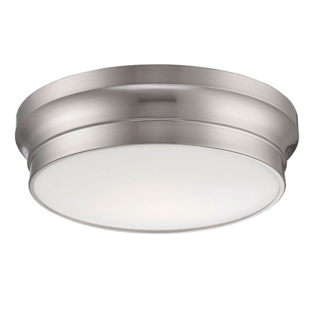 Jane Collection, 1-Light LED Satin Nickel Flushmount