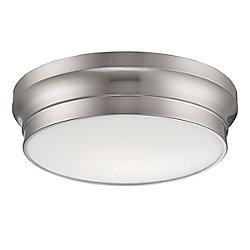 Jane Collection, 1-Light LED Satin Nickel Flushmount