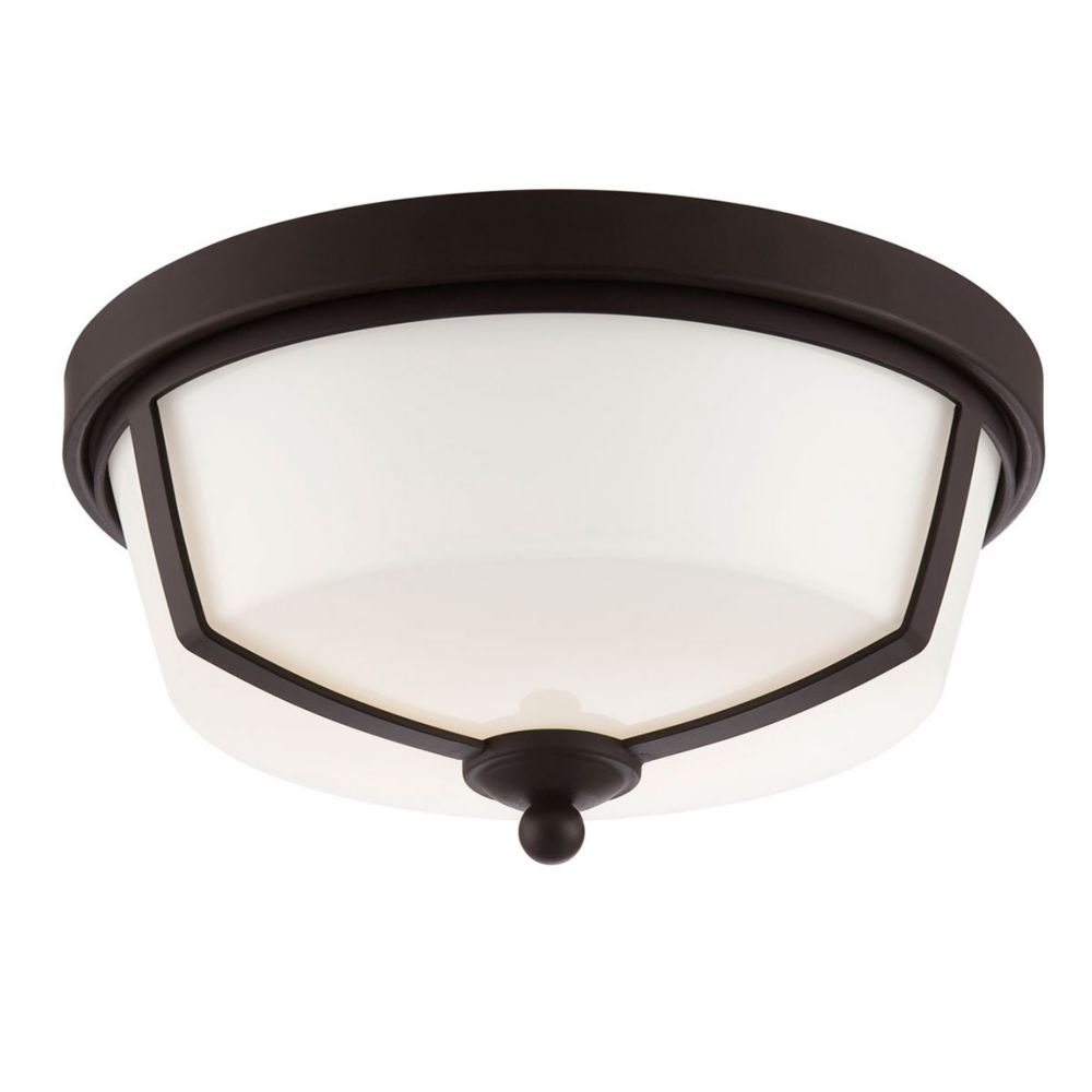 Kate Collection, 2-Light LED Bronze Flushmount