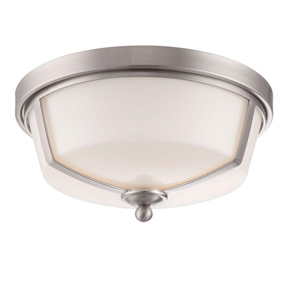 Kate Collection, 2-Light LED Satin Nickel Flushmount