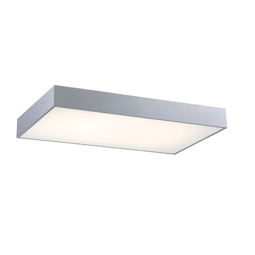 Mac Collection, 1-Light Rectangular LED Aluminum Flushmount