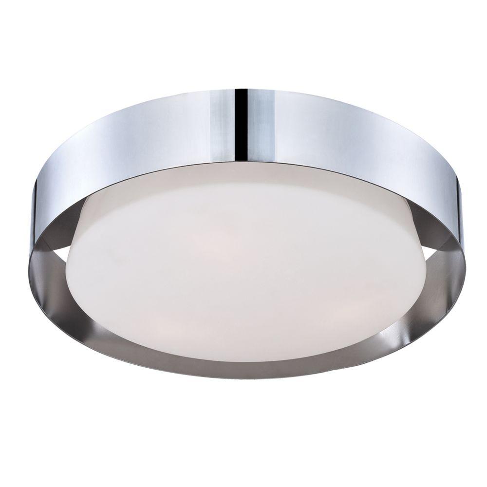 Saturn Collection, 1-Light LED Chrome Flushmount