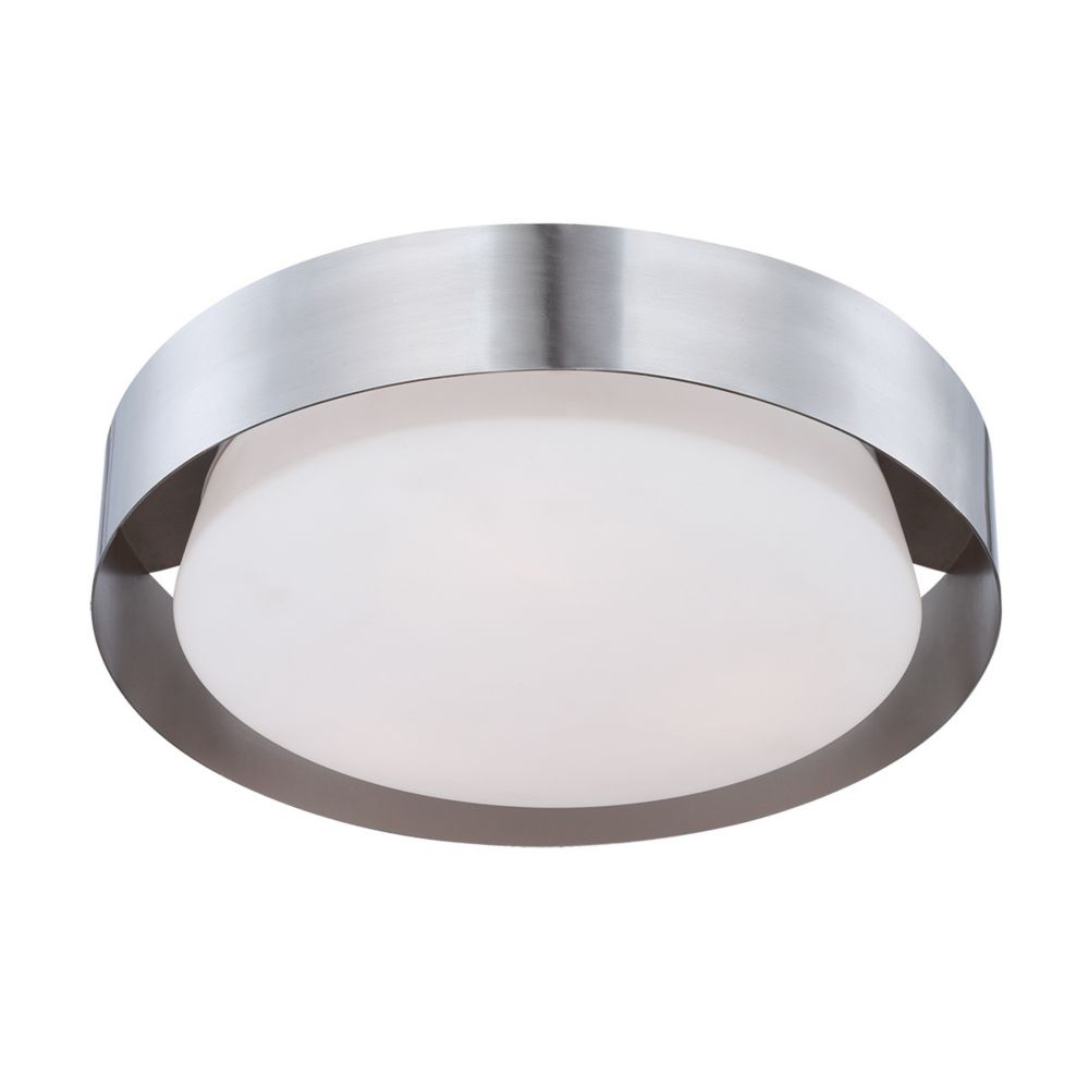 Saturn Collection, 1-Light LED Satin Nickel Flushmount