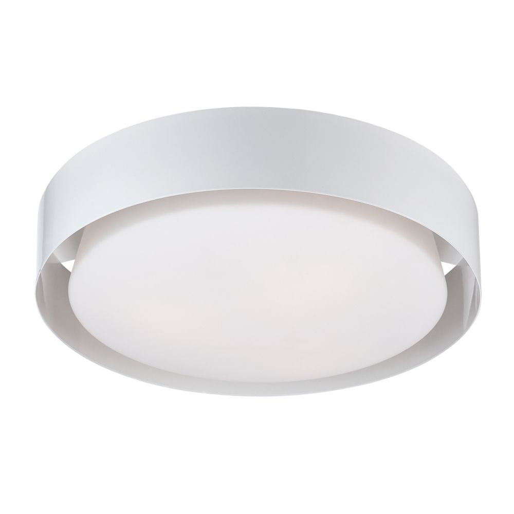 Saturn Collection, 1-Light LED White Flushmount