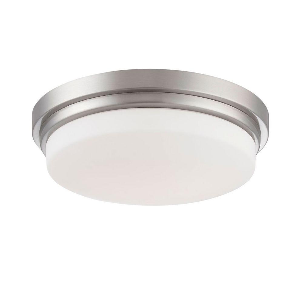 Wilson Collection, 1-Light Satin Nickel LED Flushmount