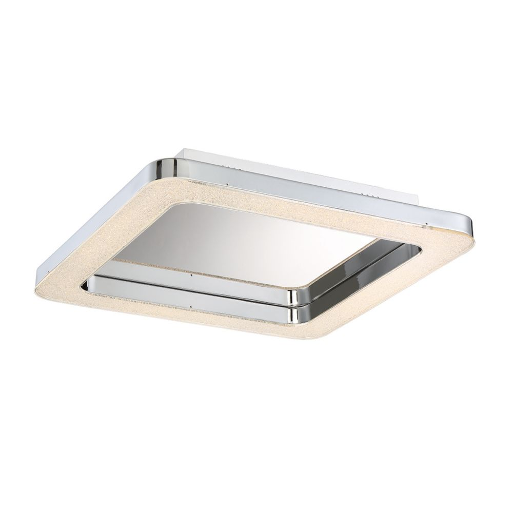 Zatina Collection, 1-Light Small LED Chrome Flushmount