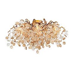 Collection Campobasso, semi-plafonnier doré à 7ampoules