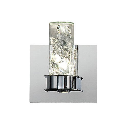 York Collection, 2-Light LED Chrome Wall Sconce