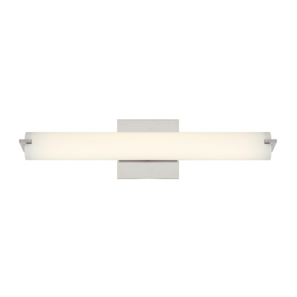 Zuma Collection, 1-Light Medium LED Satin Nickel Wall Sconce