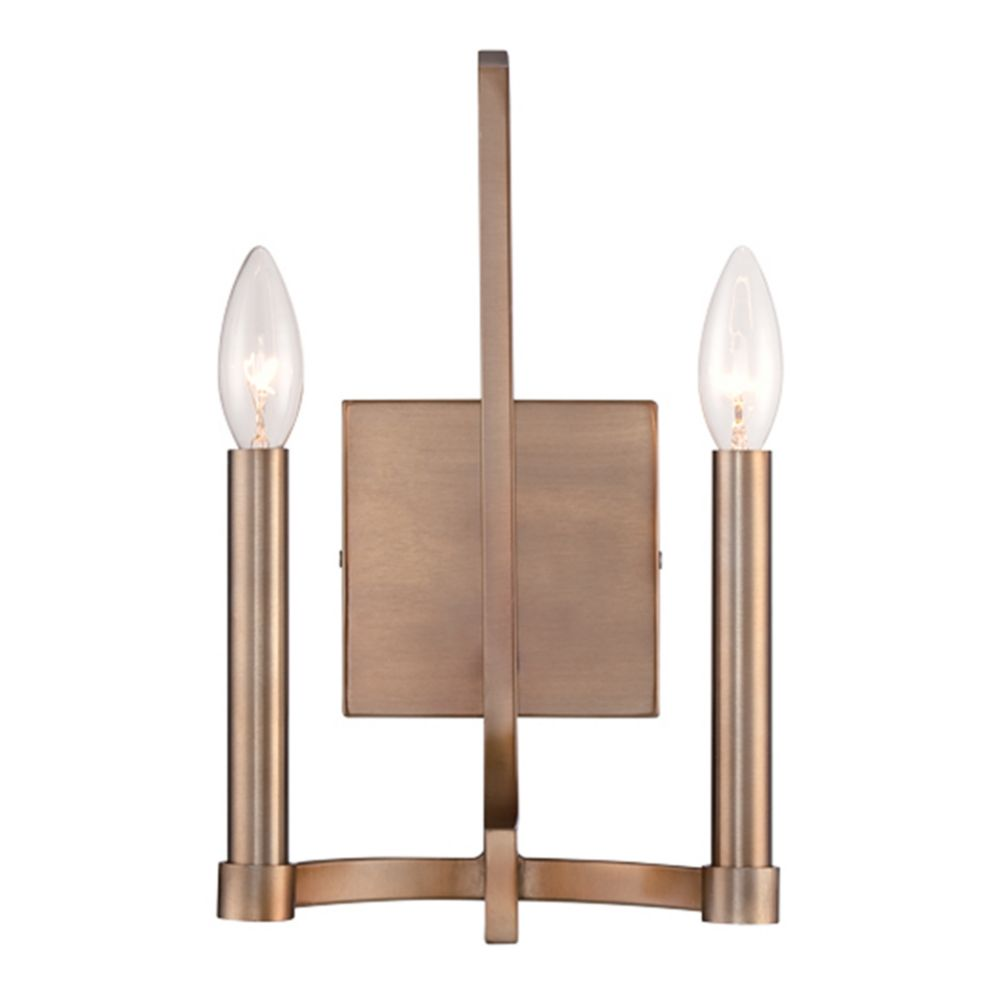 Cantu Collection, 2-Light Gold Wall Sconce