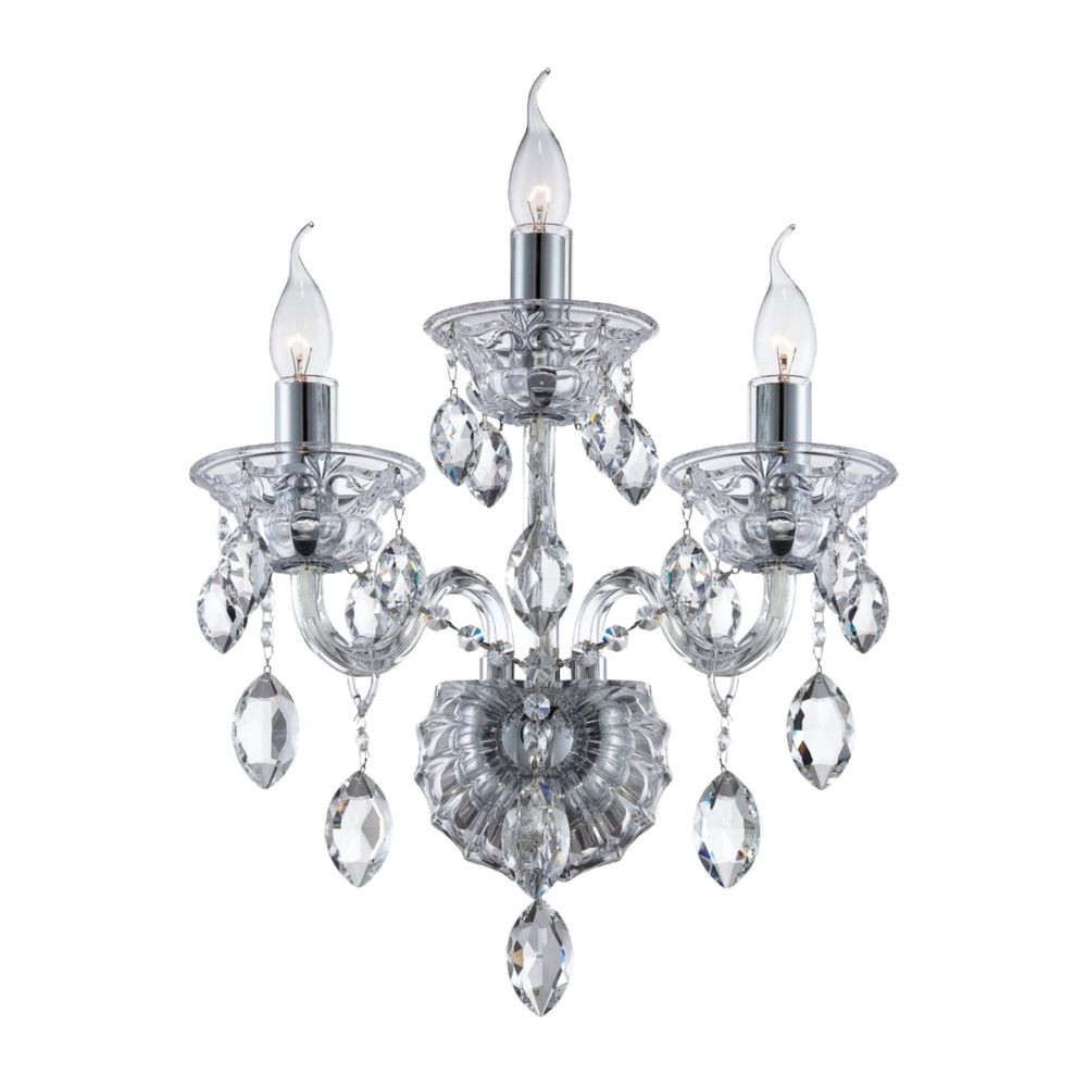 Venetian Collection, 3-Light Clear Wall Sconce