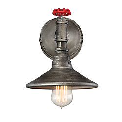 Zinco Collection, 1-Light Aged Silver Wall Sconce