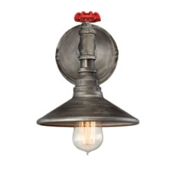 Eurofase Zinco Collection, 1-Light Aged Silver Wall Sconce