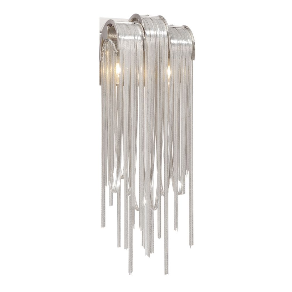 Avenue Collection, 2-Light Satin Nickel Wall Sconce