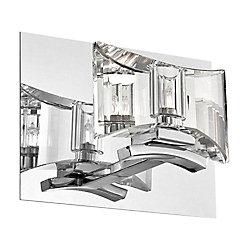 Collection Uzo, applique murale chrome et transparente à 1ampoule