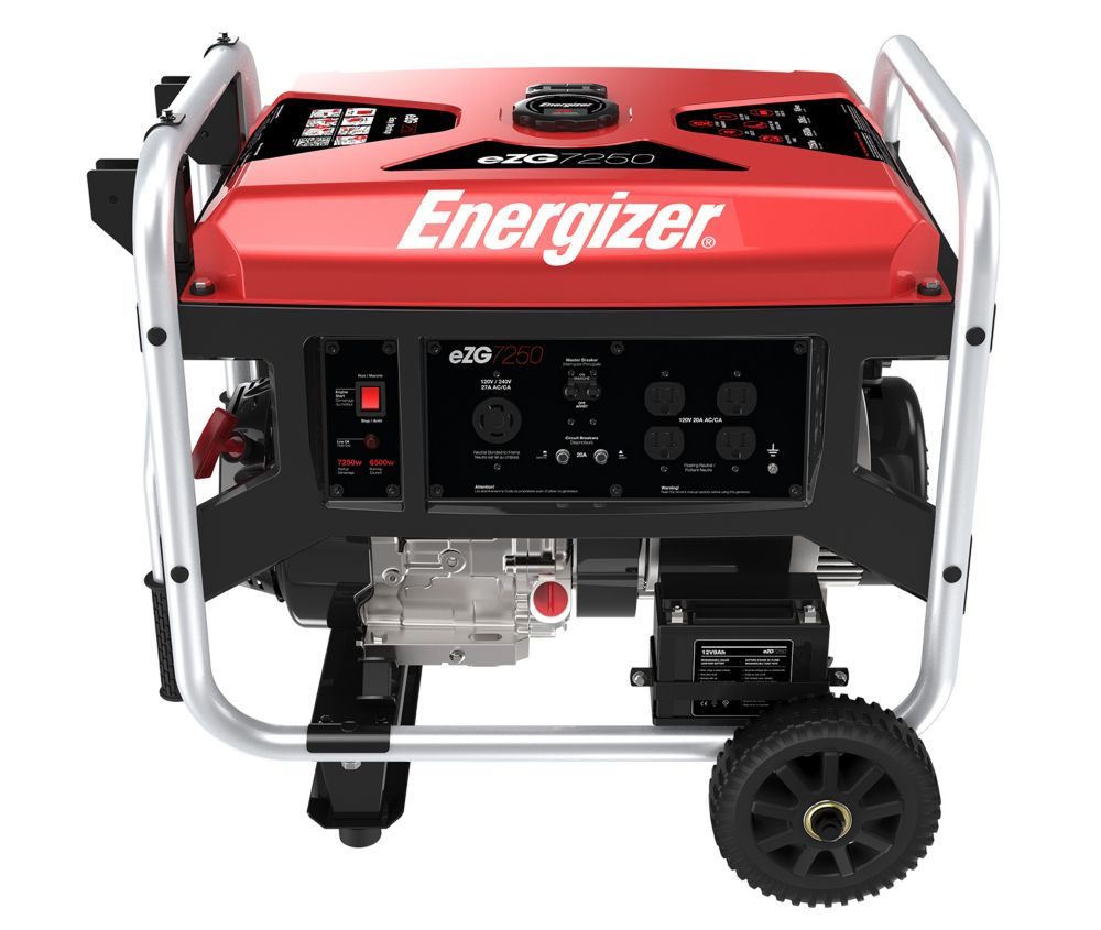 EZG7250: 7250 Watt Gas Powered Portable Generator With Electric Start
