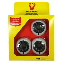 Victor Mini PestChaser Ultrasonic Rodent Repeller (3-Pack)
