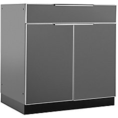 Aluminum Slate 32-inch Bar 32x33.5x23-inch Outdoor Kitchen Cabinet