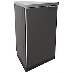 NewAge Products Inc. Aluminum Slate of 45 Degree Corner 22.3x36x24.1-inch Outdoor Kitchen Cabinets (2-Pack)
