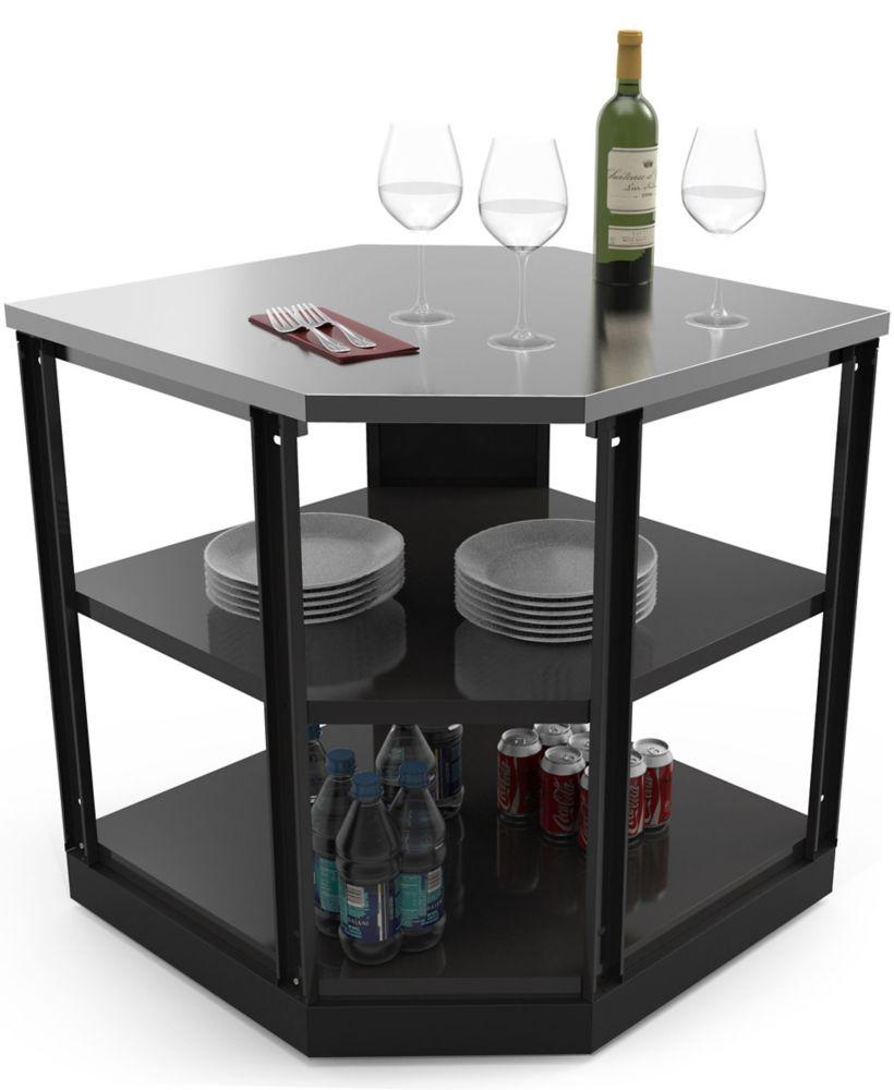 NewAge Products Outdoor Kitchen 90° Corner Shelf Aluminum Slate