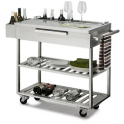 NewAge Products Inc. Stainless Steel Outdoor Kitchen Bar Cart in Slate