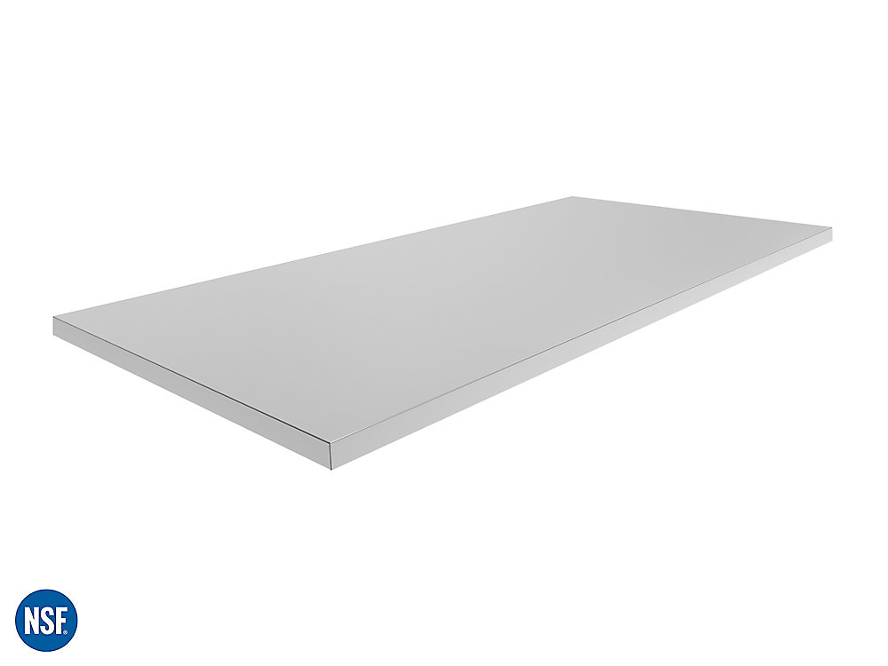 56x1.25x24-inch Outdoor Kitchen Stainless Steel Countertop for Stainless Steel or Aluminum Cabinets