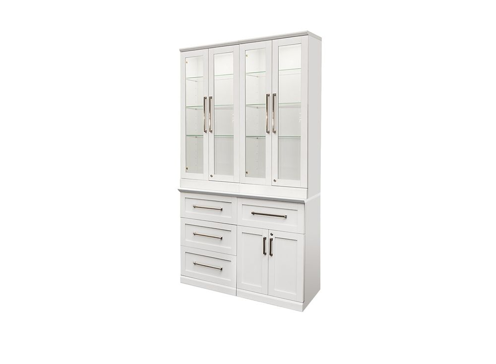 NewAge Products Home Bar 48  Inch W x 24  Inch D 5 PC White Shaker Style