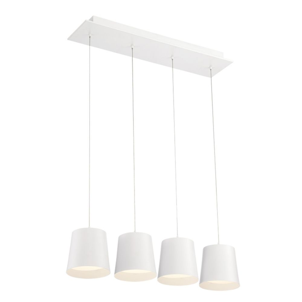 Eurofase Borto Collection, 4-Light LED White Chandelier