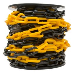 Everbilt 2 inch x 65 ft. Two-Toned Black and Yellow Plastic Barrier Chain
