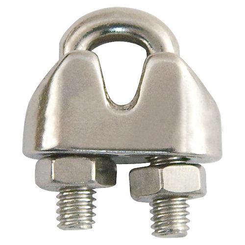 3/8 po Serre-câble, plaqué zinc - 2 pièces