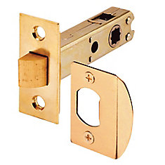 Passage Door Latch, 9/32 inch and 5/16 inch Square Drive, Brass Finish