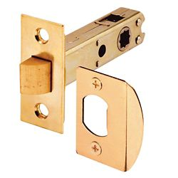 Prime-Line Passage Door Latch, 9/32 inch and 5/16 inch Square Drive, Brass Finish