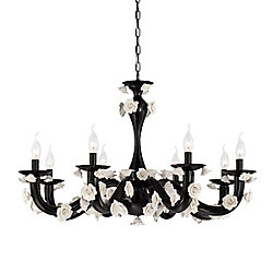Martina Collection, 8-Light Black Chandelier