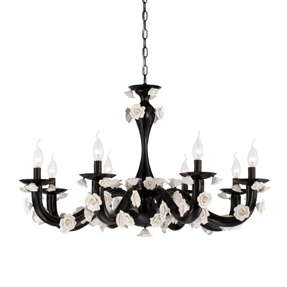 Eurofase Martina Collection, 8-Light Black Chandelier