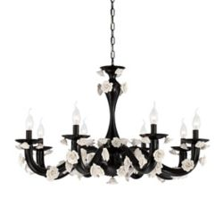 Eurofase Martina Collection, 8-Light Black Chandelier