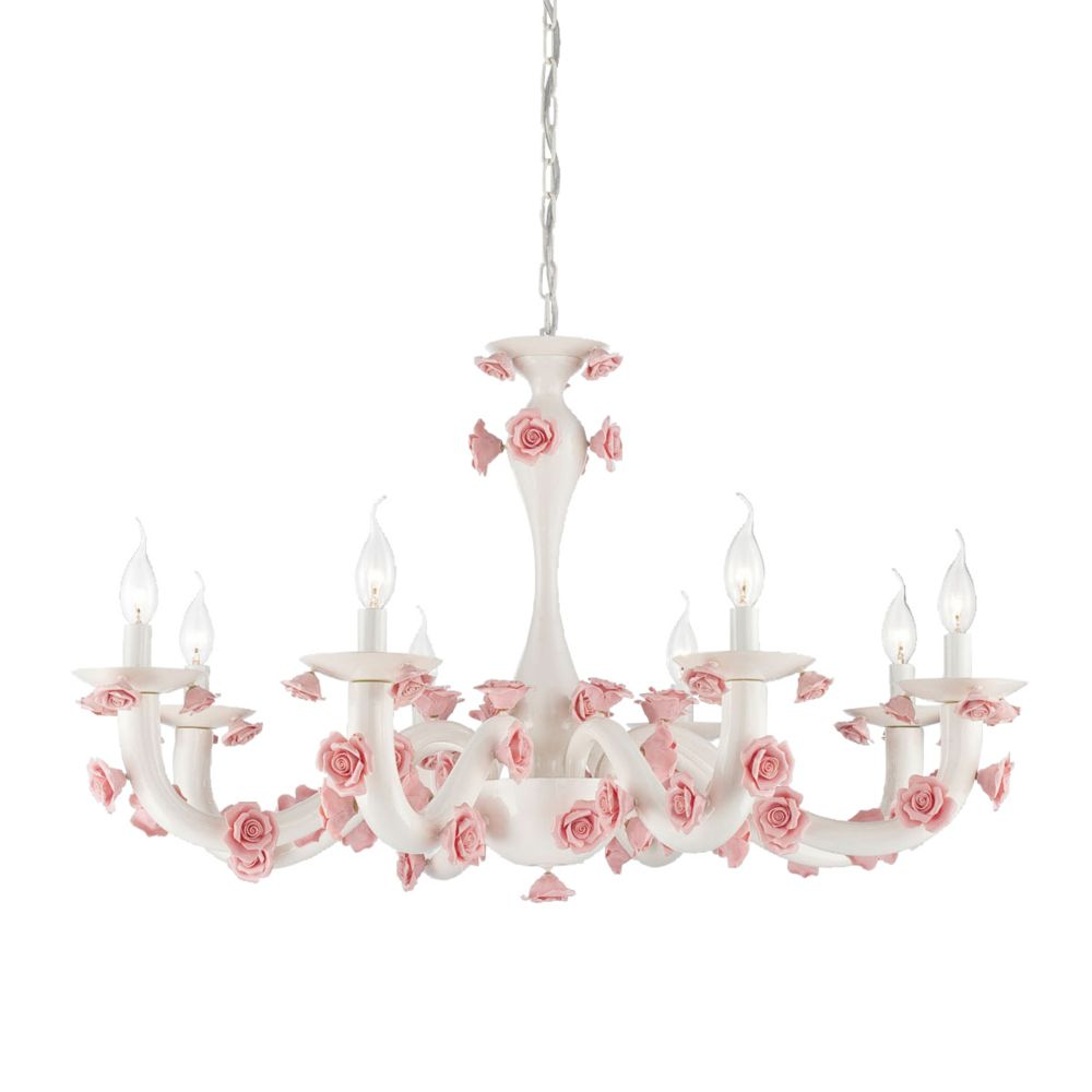 Eurofase Martina Collection, 8-Light White Chandelier