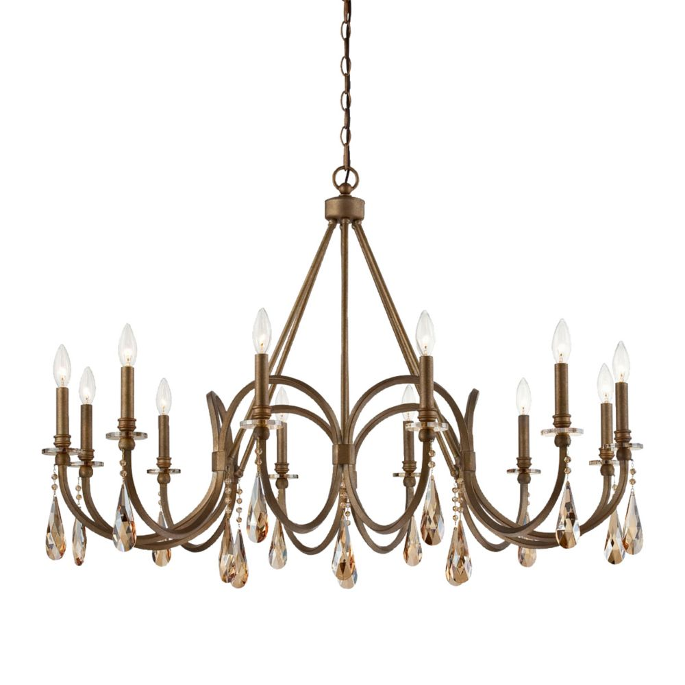 Padova Collection, 12-Light Bronze Chandelier