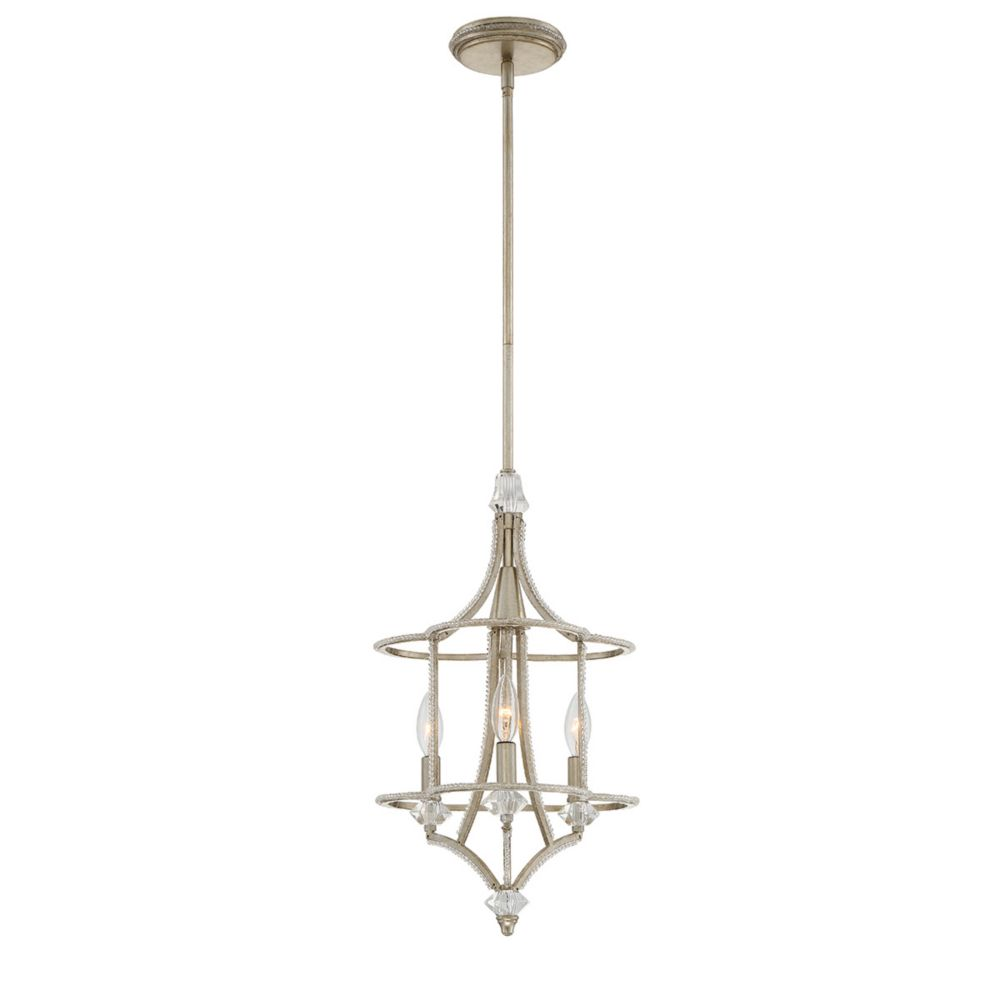 Palmisano Collection, 3-Light Silver Chandelier